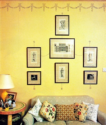 Wall stenciling is attractive